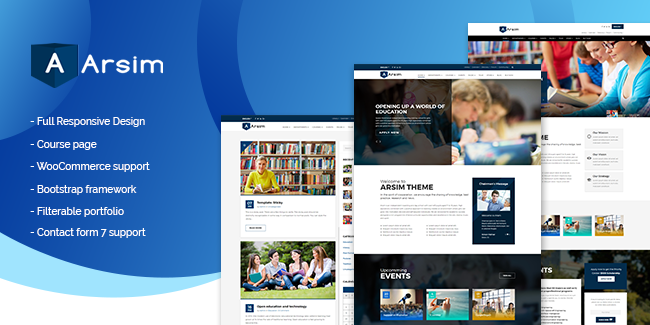 2. Arsim WordPress Education Theme
