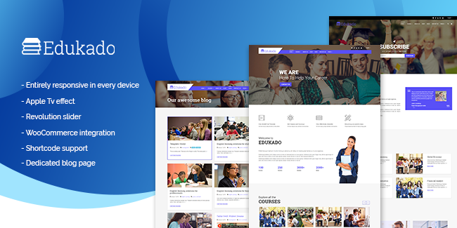 3. Edukado WordPress Education Theme: