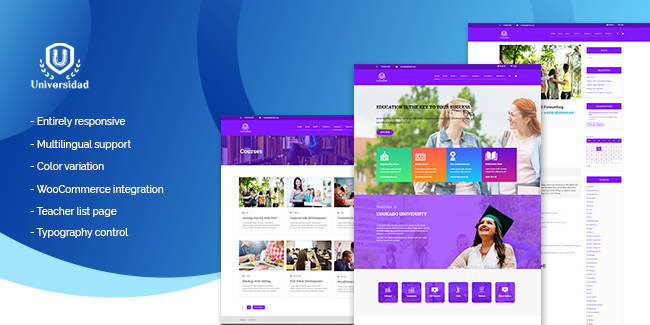 4. Universidad WordPress Education Theme: