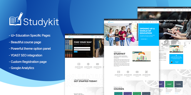 5. StudyKit WordPress Education Theme: