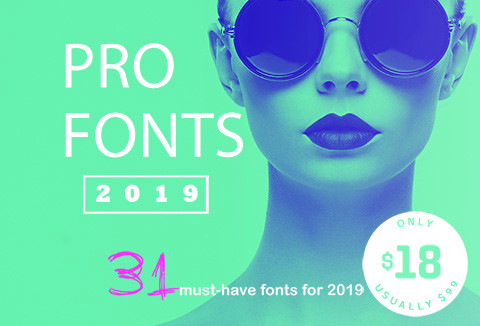 PRO Fonts 2019 - A Bundle Of Professional Fonts
