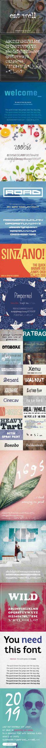 PRO Fonts 2019 - A Bundle Of Professional Fonts