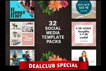 32 Packs of Social Media Branding Templates