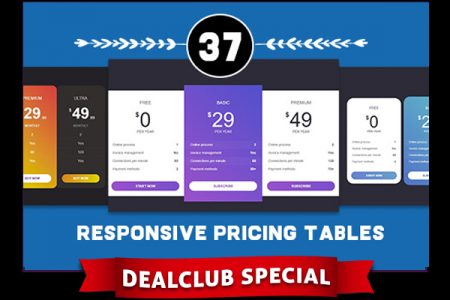 A Bundle Of 37 Responsive Pricing Tables