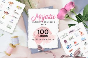 The Majestic Ultimate Branding Pack Of 100 Iconic Logos