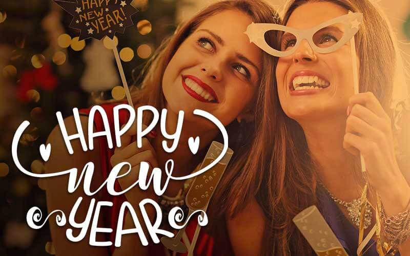 Happy New Year - Photoshop Text Overlay