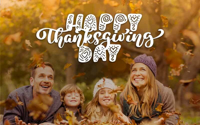 Happy thanksgiving day - Photoshop Text Overlay