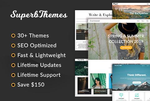 SuperbThemes - 30+ SEO Optimised WordPress Themes
