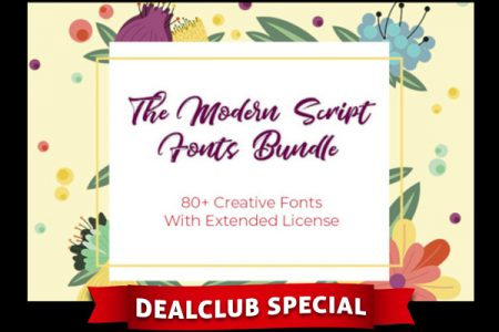 modern script font bundle cover
