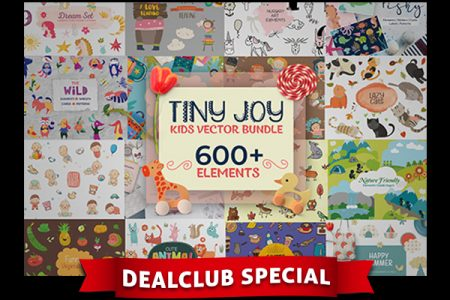 Tiny Joy Kids Vector Bundle Of 600+ Elements | DealClub Exclusive