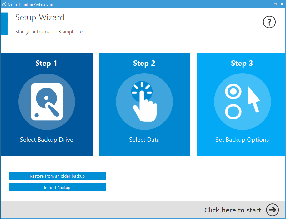 Genie Timeline 10 - A Professional Backup Solution For Windows| Lifetime - Setup Wizard