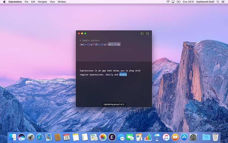 Expressions App For Mac To Write Regular Expressions - Preview 4