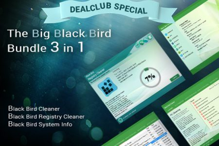 Clean Up & Fasten Your PC With Big Black Bird 3-in-1 Bundle - PC Cleaner| Lifetime