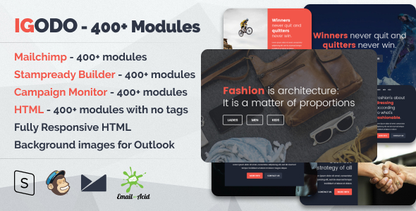 Igodo - The Ultimate Multipurpose Responsive Email Templates Bundle