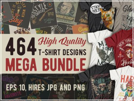 464 T-shirts Mega Bundle