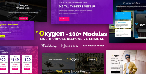 Oxygen - The Ultimate Multipurpose Responsive Email Templates Bundle