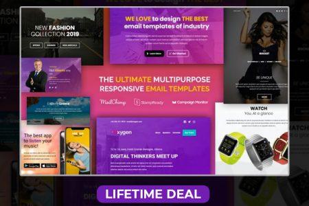 Multipurpose responsive email templates