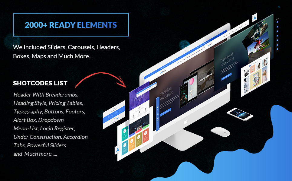 The Next Web Design Kit For A LIFETIME - 2000+ Elements