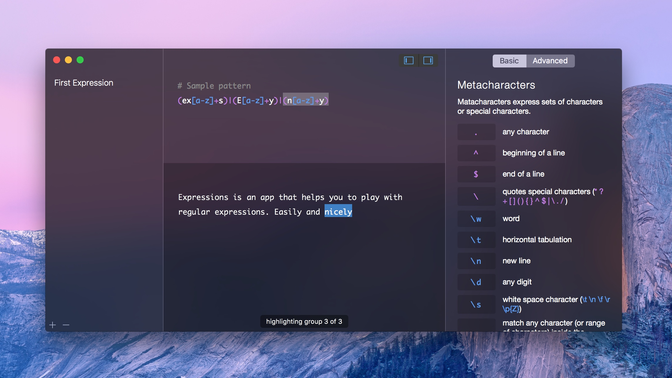 Expressions App For Mac To Write Regular Expressions - Preview 6