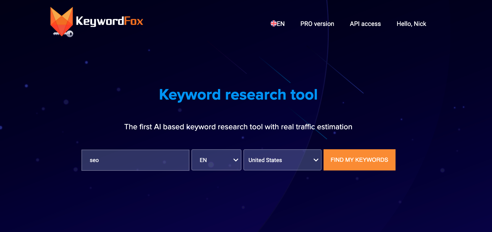 KeywordFox - Keyword Research Tool For A Lifetime