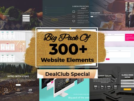 Big Pack Of 300+ Website Elements - Templates, Blocks, Tables , Forms & More...