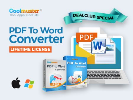 Coolmuster PDF To Word Converter For Windows & Mac - Lifetime License