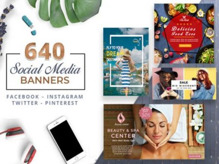 A Bundle Of 640 Clean & Modern Social Media Banner Templates