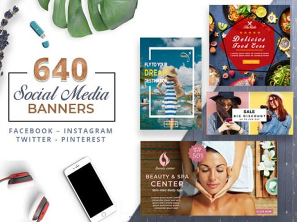 A Bundle Of 640 Clean & Modern Social Media Banner Templates
