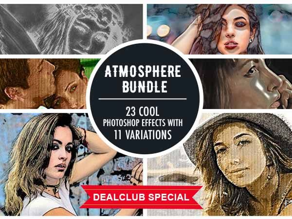 An Atmosphere Bundle Of 23 Cool Photoshop Effects