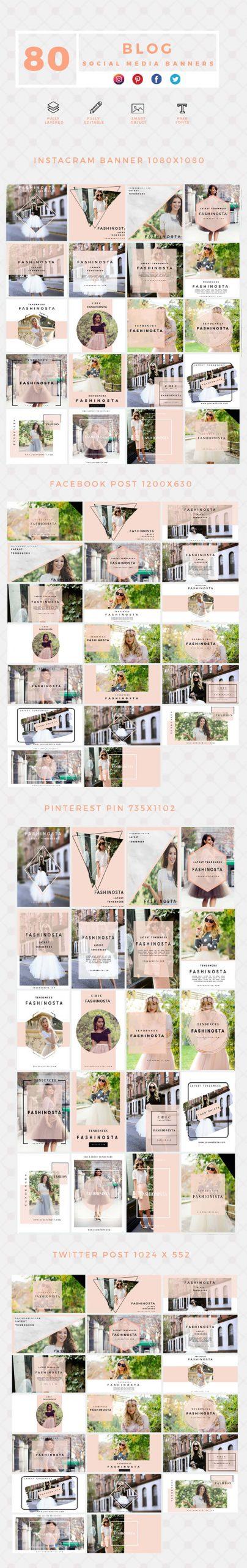 640 Social Media Banner Templates Bundle PREVIEW-BLOG