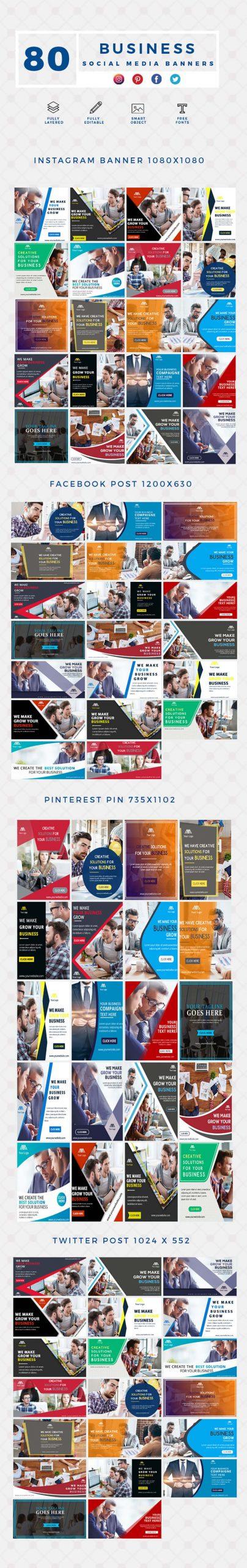 640 Social Media Banner Templates Bundle PREVIEW-BUSINESS