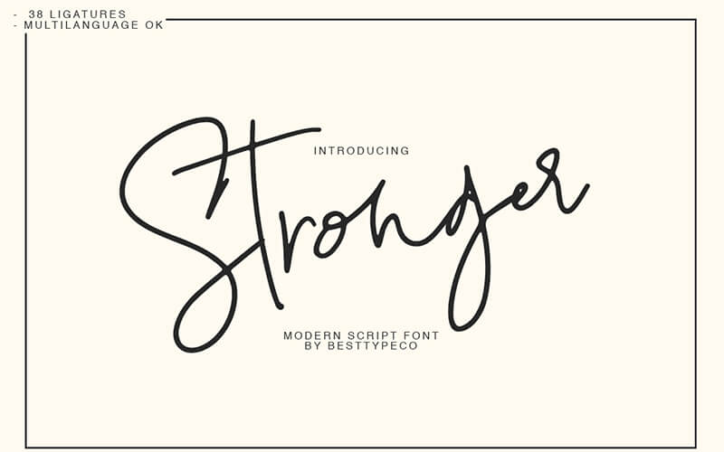 51 Elegant & Creative Fonts From The Amazing Fonts Bundle - Stronger-script