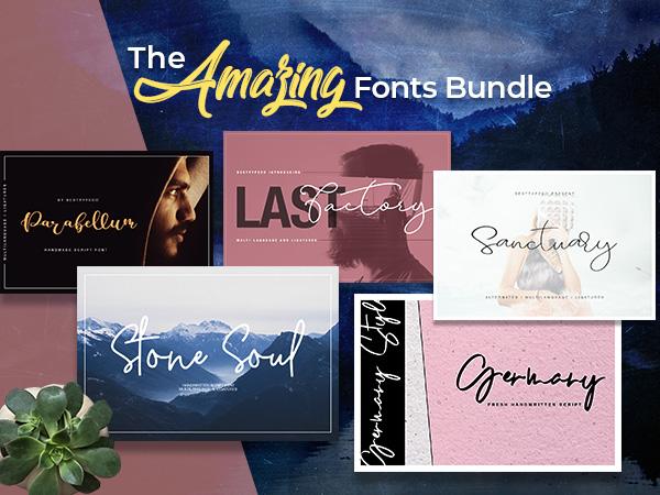 The Amazing Fonts Bundle With Creative & Elegant Typefaces