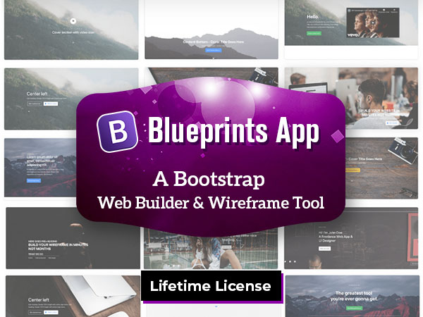 Blueprints App: Bootstrap Web Builder & Wireframe Tool