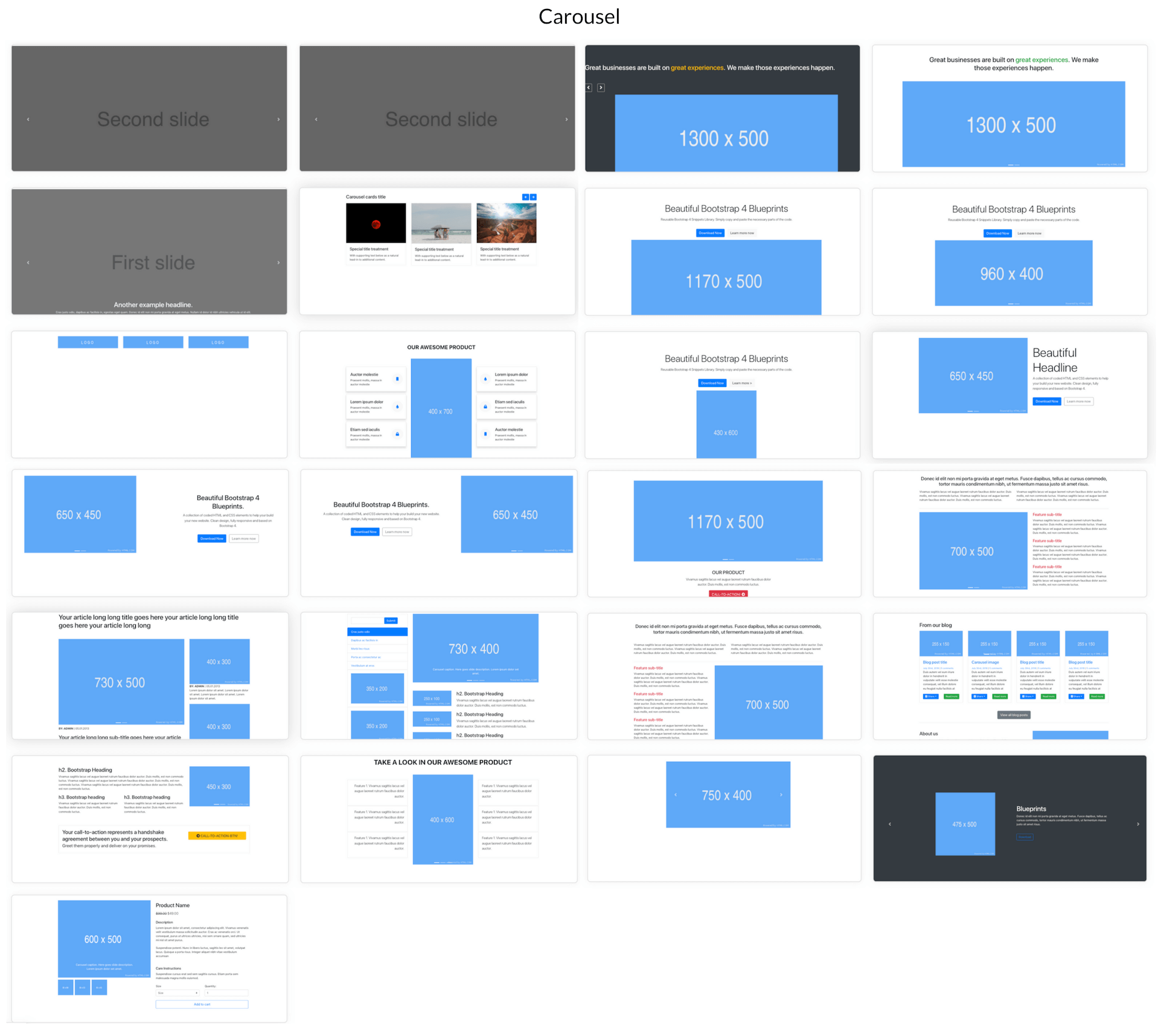 Elements Of Blueprints App, A Bootstrap Web Builder - Carousel