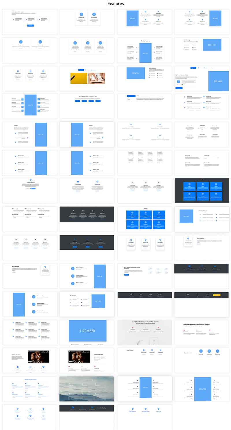 Elements Of Blueprints App, A Bootstrap Web Builder - Features
