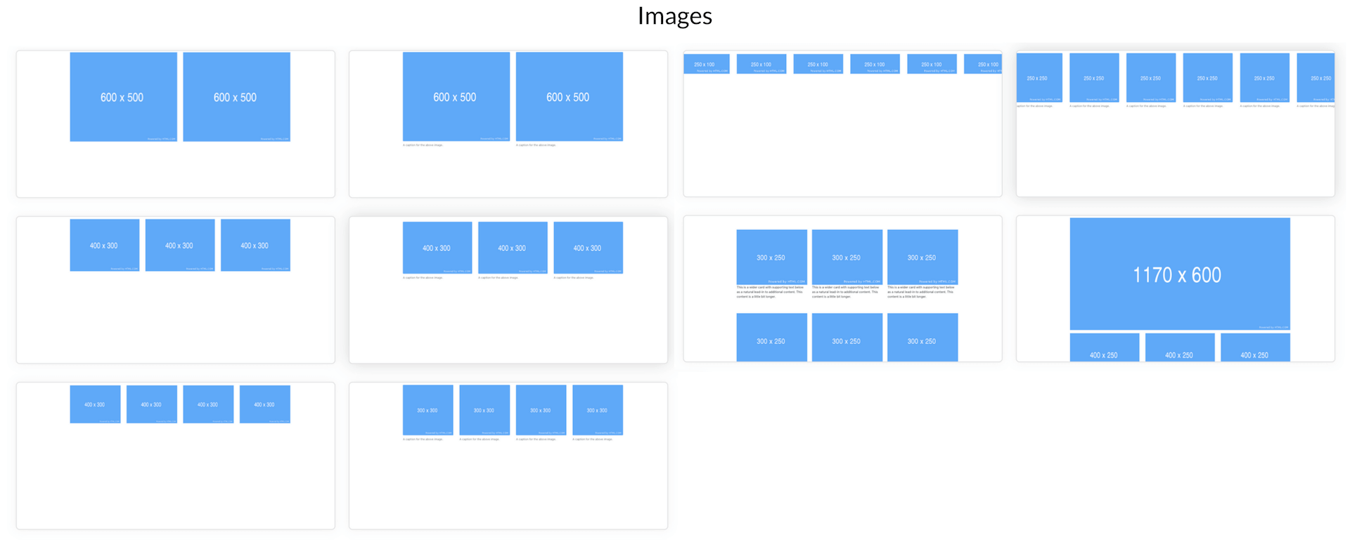 Elements Of Blueprints App, A Bootstrap Web Builder - Images