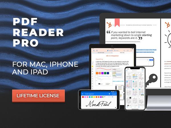 PDF Reader Pro - A PDF Powerhouse For Mac, iPhone & iPad