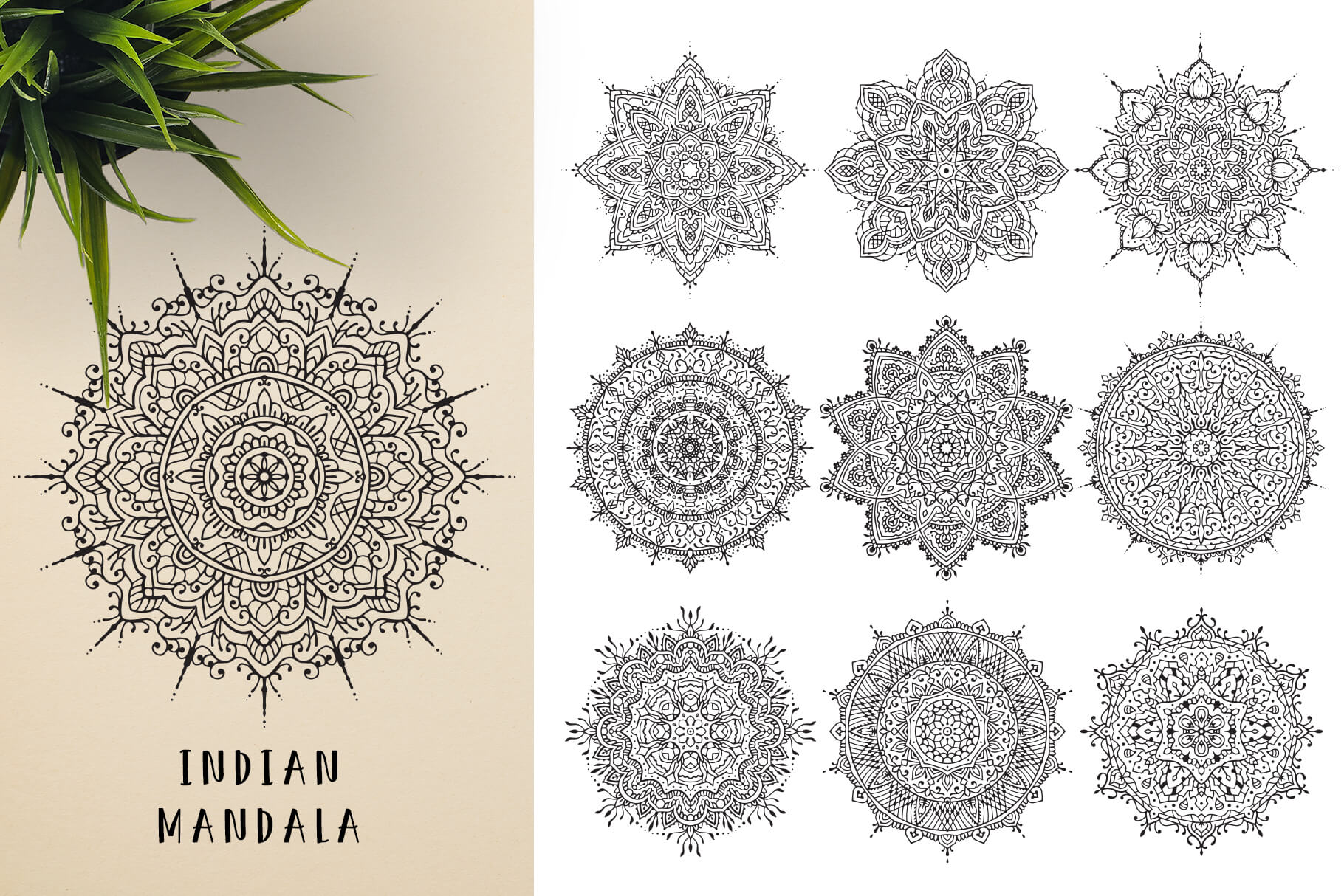 Bundle Of Mandala Ornaments - Indian 2