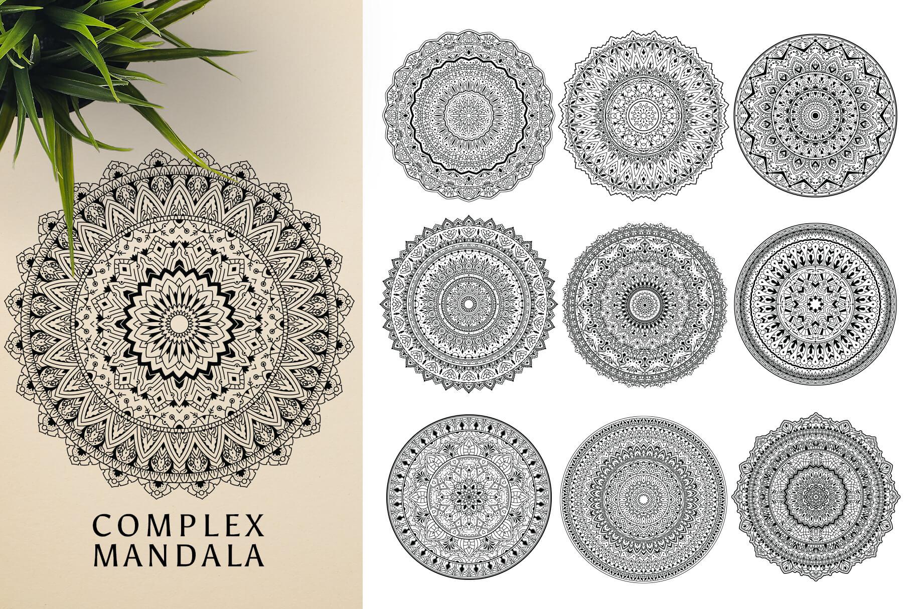 Bundle Of Mandala Ornaments - Complex
