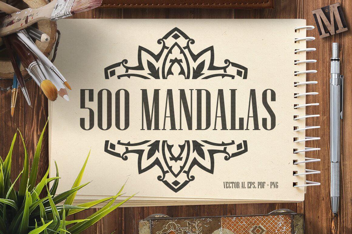 Bundle Of Mandala Ornaments - 1 500-vector-mandala-ornaments-01-