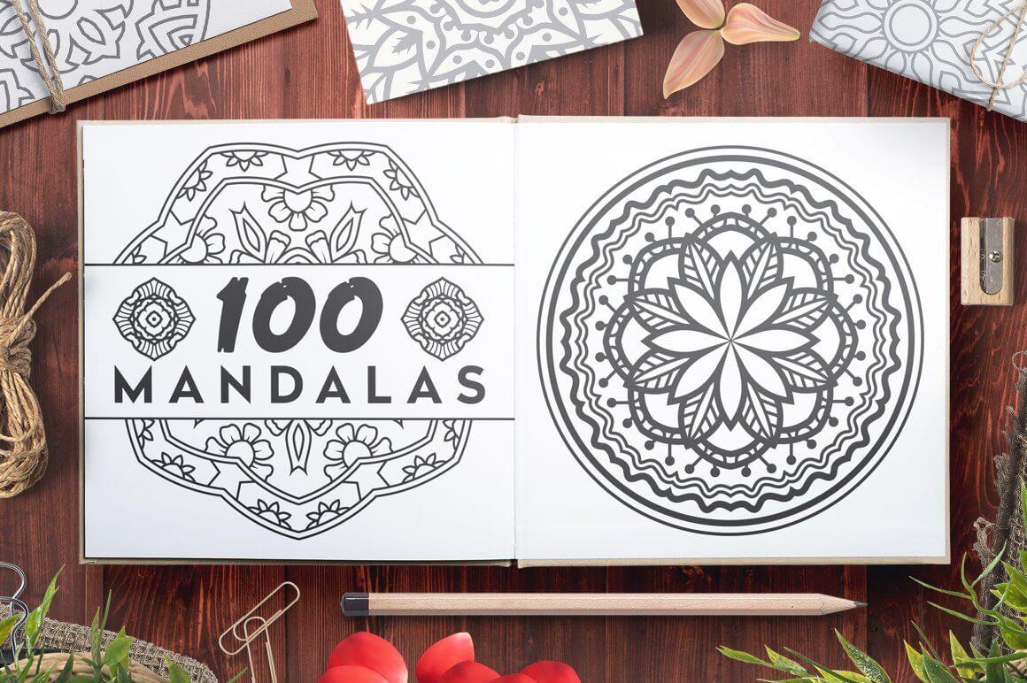 Bundle Of Mandala Ornaments - 100 Vector Mandala Ornaments Presentation