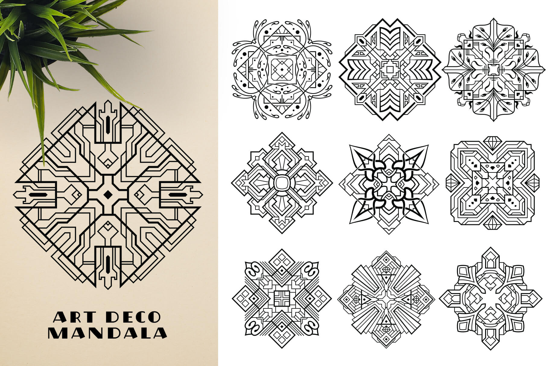 Bundle Of Mandala Ornaments - Artdeco