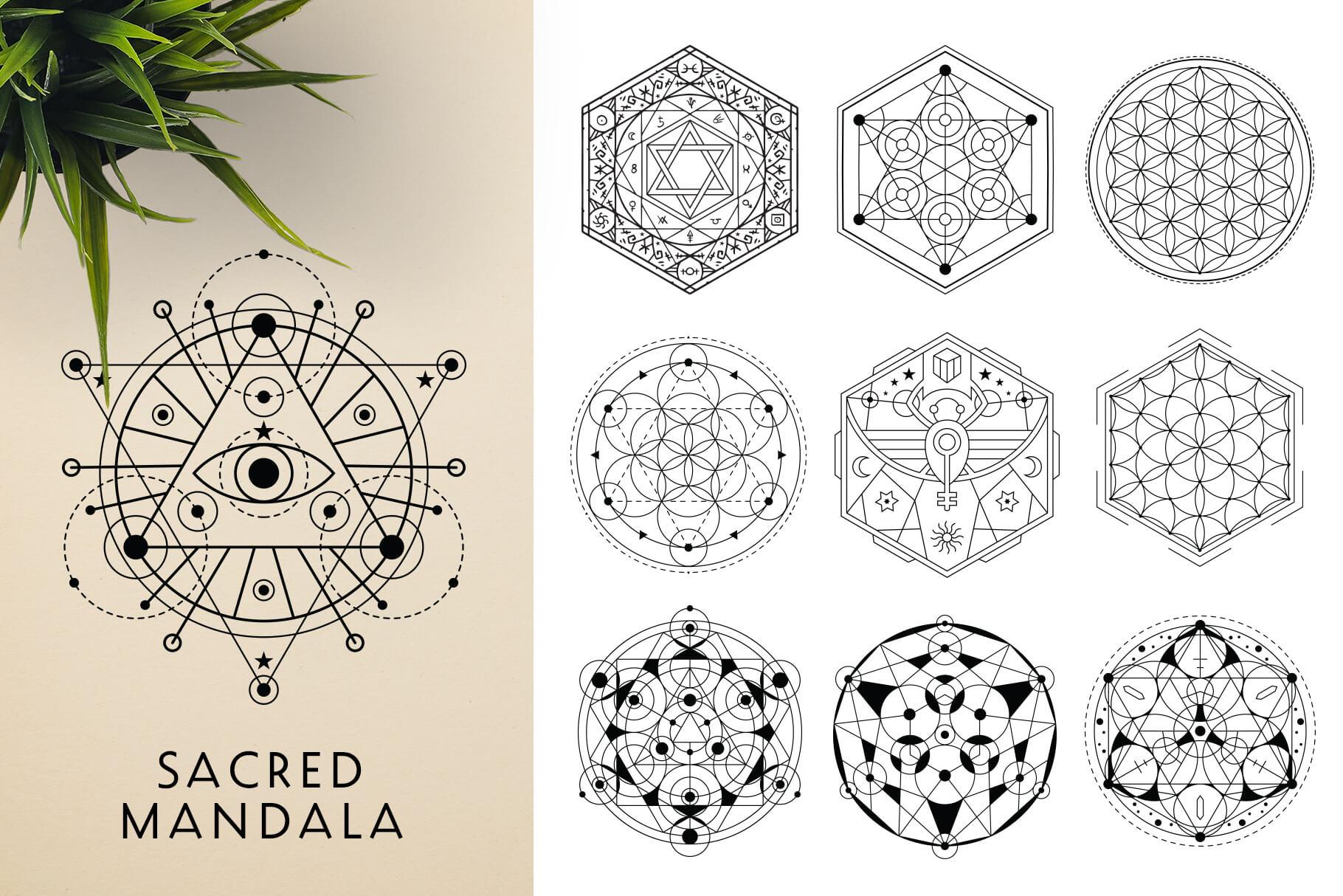 Bundle Of Mandala Ornaments - Sacred 1