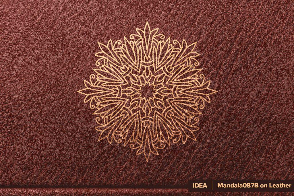 Mandala On - Leather Print