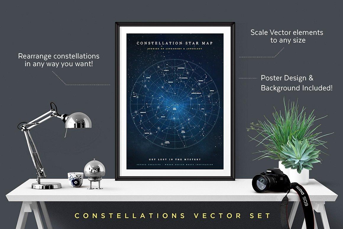 Creative Graphic Design - Cosmic Bundle: Constellation Set-1 - 2