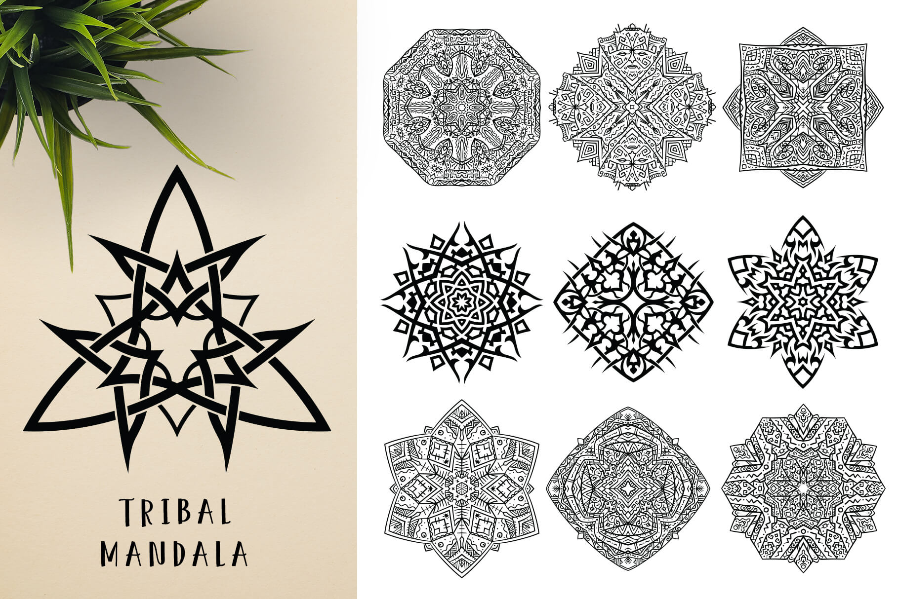 Bundle Of Mandala Ornaments - Tribal 1