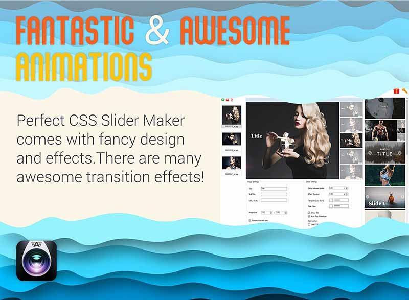 CSS Image Slider Maker- Awesome animations