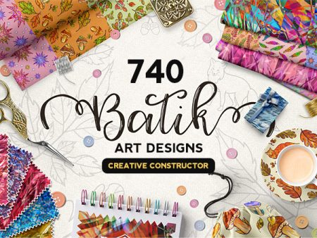 A Collection Of 740 Batik Art Designs And Art Constructor