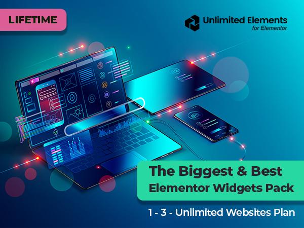 Unlimited Elements - The Best & Biggest Elementor Widgets Pack